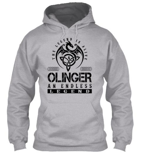 Olinger   Legends Alive Sport Grey T-Shirt Front