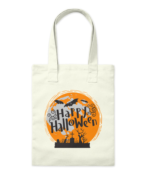Happy Halloween Natural Bolso Front