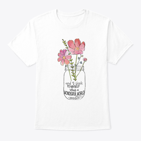 Flower Children   Hippie Costume White T-Shirt Front