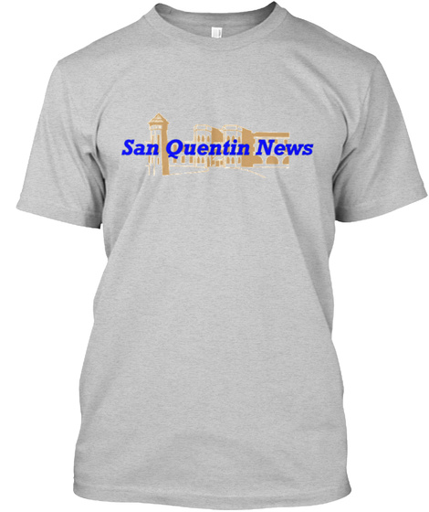 San Quentin News Light Steel T-Shirt Front