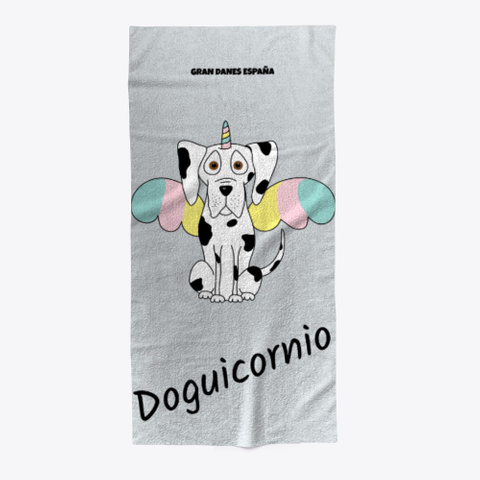 "Toalla ""Doguicornio"" Light Grey T-Shirt Front"