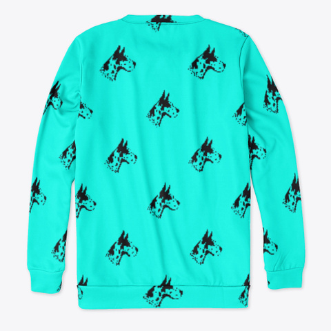 Blue Great Dane Pattern Sweatshirt Standard T-Shirt Back