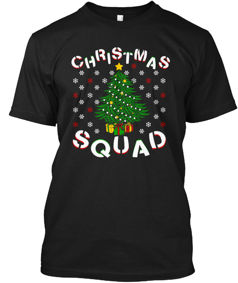 Christmas Squad Black T-Shirt Front