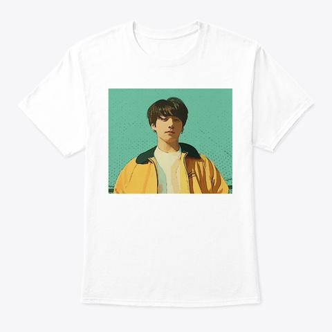 Kpop Jungkook Euphoria Art White T-Shirt Front