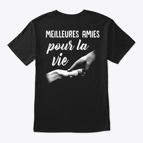 Fr Meilleures Amies Black T-Shirt Back