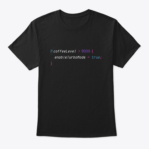 Enable Turbo Mode Code Black T-Shirt Front