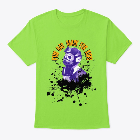 Fun Gas Mask Wwii  Lime T-Shirt Front