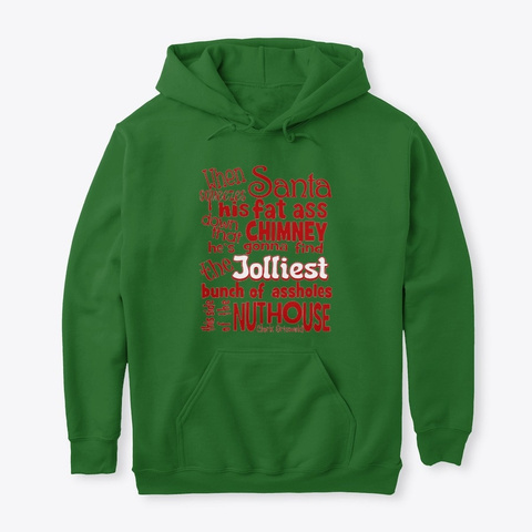 Jolliest Buch Of A Holes Christmas Gear Irish Green T-Shirt Front