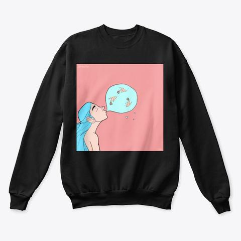 Breathe Custom Art Design Black T-Shirt Front