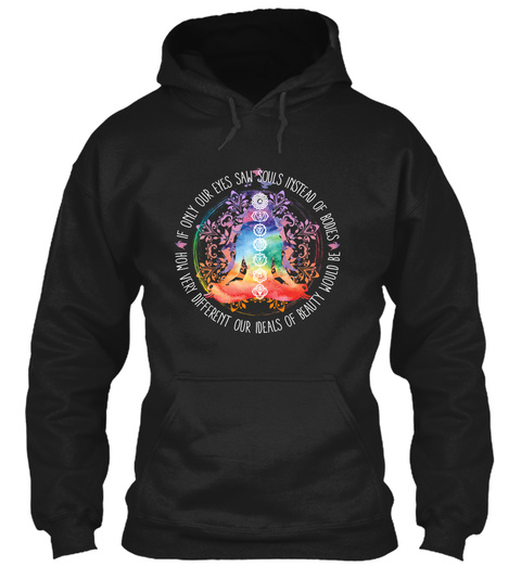 The  Chakra Meditation Black T-Shirt Front