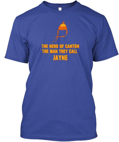 Camisa Del Sombrero De Jayne El Hombre A Deep Royal T-Shirt Front