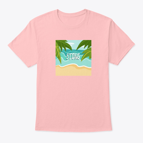 Summer Stong Pale Pink T-Shirt Front