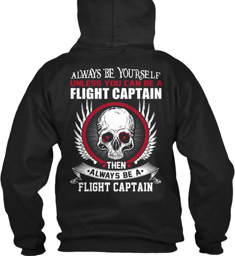 Flight Captain Black T-Shirt Back