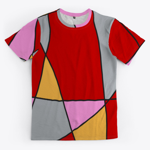 Abstract Minimal Art Comic Style Standard T-Shirt Front