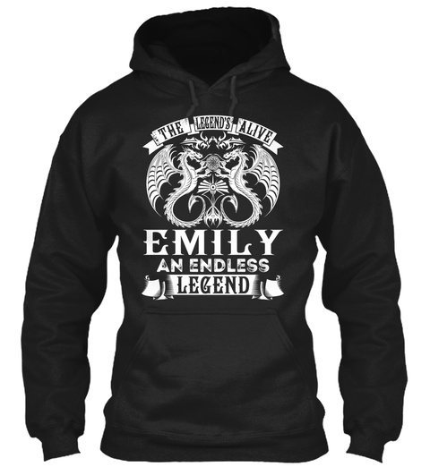 Emily   Alive Name Shirts Black T-Shirt Front