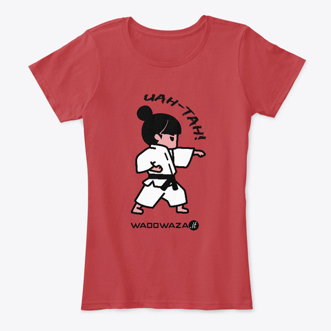 Uah Tah! By Wadowaza   For Ladies Classic Red T-Shirt Front