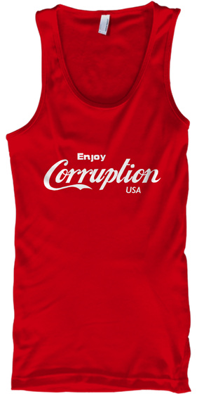 Enjoy Corruption Usa Red Tank Top Front