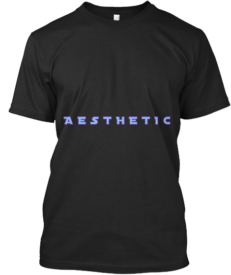 A E S T H E T I C Vintage Black T-Shirt Front
