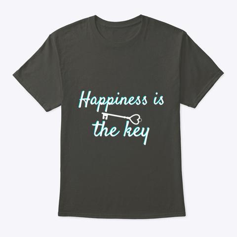 Yoga Meditation Apparel, Happiness Black Smoke Gray T-Shirt Front