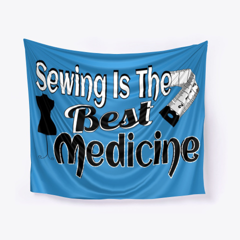 Betty Lop Designer Sewing Is The Best Denim Blue T-Shirt Front