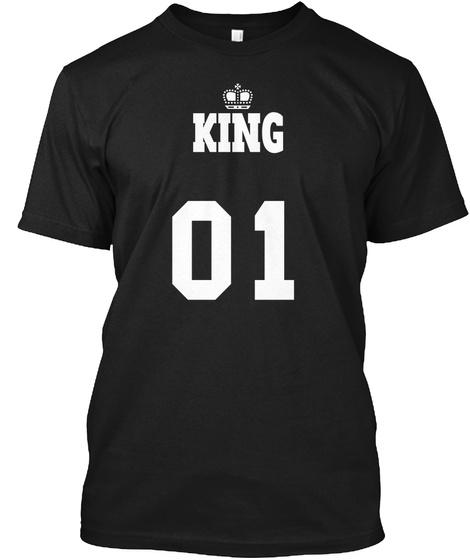 King 01 Black T-Shirt Front