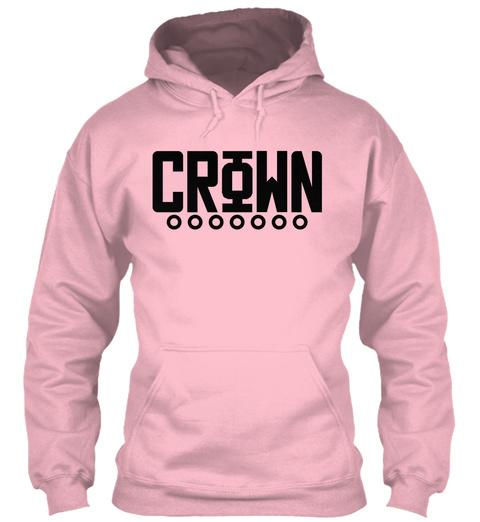 Crown Baby Pink Sweatshirt Front