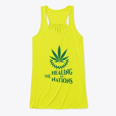Weed Tees Neon Yellow T-Shirt Front