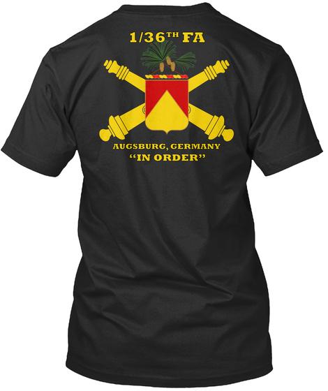 1/36th Da Augsburg Germany In Order Black T-Shirt Back