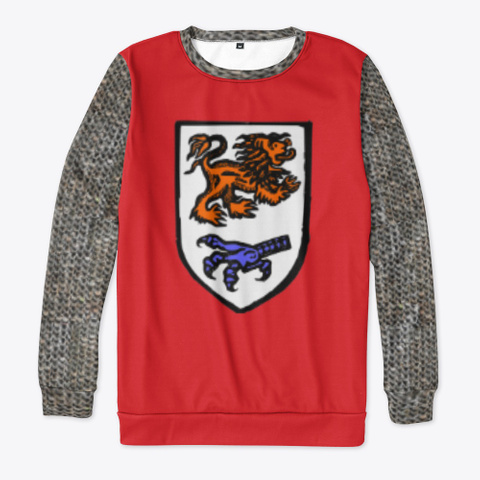 Heraldic Chain Mail   Lion Claw Red T-Shirt Front