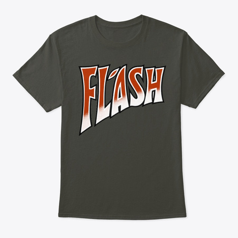 Queen Official Flash Logo Smoke Gray T-Shirt Front