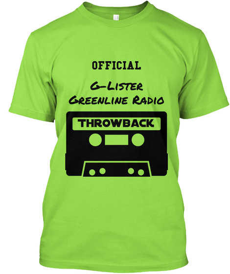 Official G Lister Greenline Radio Throwback Lime T-Shirt Front