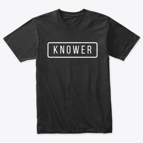 Knower Tee Vintage Black T-Shirt Front
