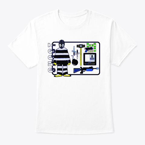 Robbery White T-Shirt Front