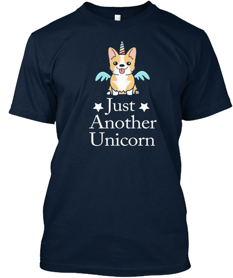 Just Another Unicorn New Navy T-Shirt Front