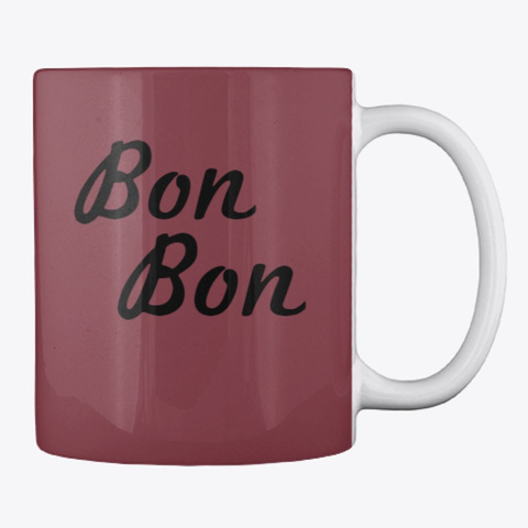 Bondy Blue Mug Maroon T-Shirt Back