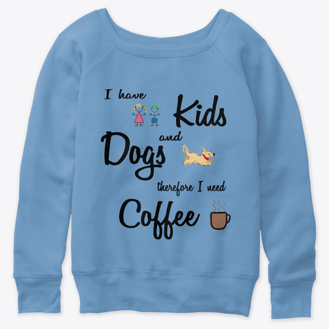 Kids Equals Coffee Blue Triblend  T-Shirt Front