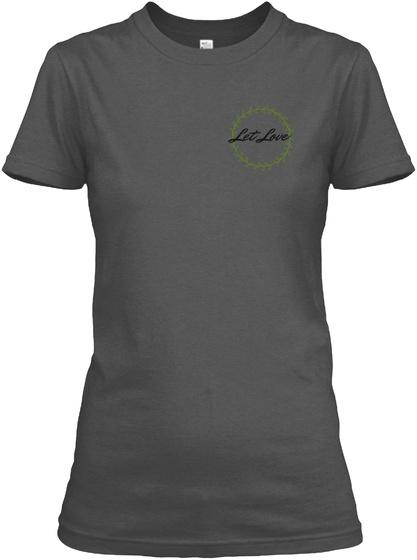 Let Love Charcoal Women's T-Shirt Front