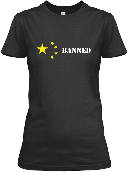 Banned Chinese Black T-Shirt Front