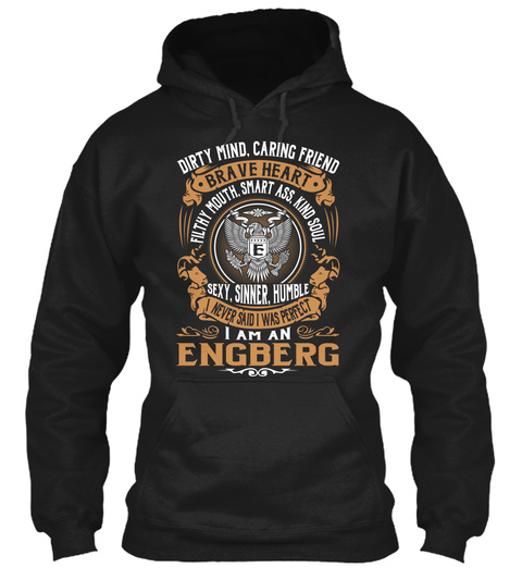 Engberg Black T-Shirt Front