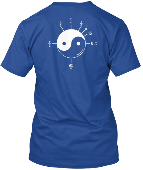 Official Tau Shirt – Limited Time Deep Royal T-Shirt Back
