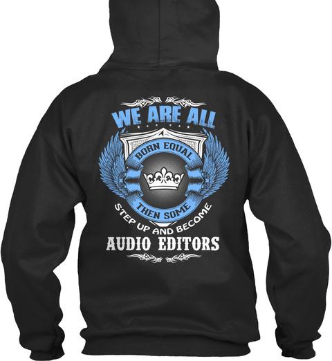 Audio Editors Jet Black T-Shirt Back