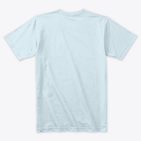 Galaxy Texas Heart Over Midland Odessa Light Blue T-Shirt Back