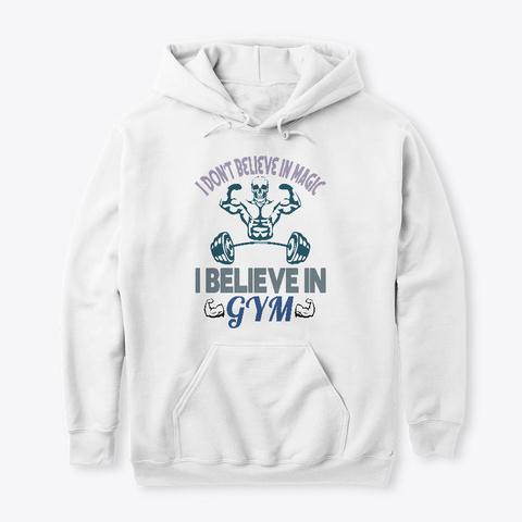 Gym T Shirt Design. White T-Shirt Front