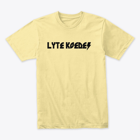 Lyte Koedes Banana Cream T-Shirt Front