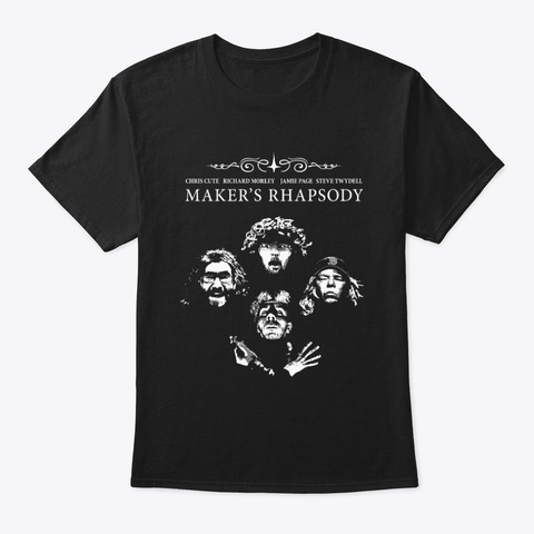 Makers International Rhapsody Black T-Shirt Front