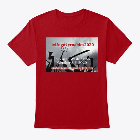 #Ungovernables2020 Tees Deep Red T-Shirt Front
