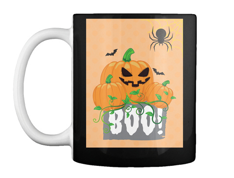 Halloween Mug With Background  Black T-Shirt Front