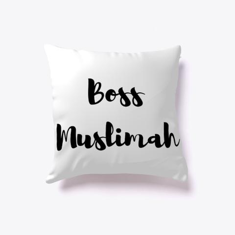 Boss Muslimah Pillow Red T-Shirt Back