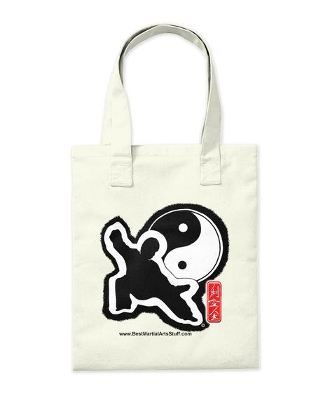 Tai Chi Energy Tote Natural Tote Bag Back