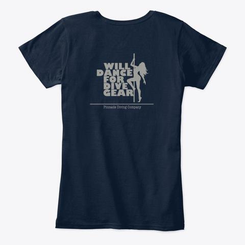 Pdc Will Dance Women's Shirt 2 New Navy T-Shirt Back